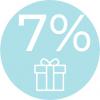 7% hodnoty nákupu ako okamžitý kredit